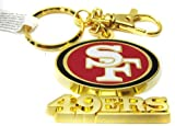 1 X Gold Metal San Francisco 49'ers key chain by
