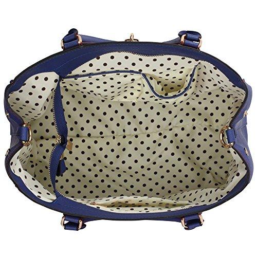 Trend Star Mujer Diseñador imitación piel berühmtheit Noche de estilo elegante para Lino transporte bolso A - Blue/Orange