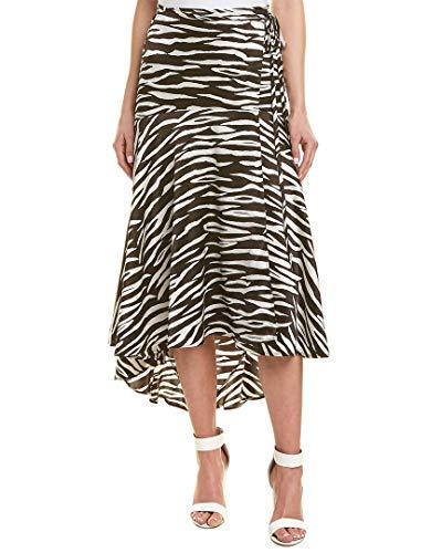 Ganni Womens Blakely Silk-Blend Skirt, 36, Black from Ganni