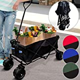 Garden Cart   Collapsible, Foldable, 80 kg, 4 Wheels, 117x54x109cm, Portable, Red/Black, Blue/Black or Green/Black   Pull Wagon, Hand Cart, Trolley, Folding Wagon for Camping (Green/Black)