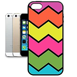 Bumper Phone Case For Apple iPhone 5/5S - Giant Chevrons Rubber Designer