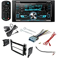 Kenwood Aftermarket Car Radio Receiver Stereo CD Player Dash Install Mounting Kit + Dash Mounting Install KIt + Stereo Wire Harness+ Radio Antenna For Select Chevrolet and Pontiac Vehicles