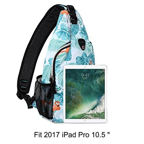 MOSISO Sling Backpack, Polyester Crossbody Shoulder Bag for Men Women Girls Boys, Flamingo by MOSISO (Image #4)