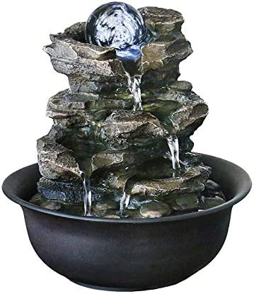 Amazon.com: WICHEMI Tabletop Water Fountain with Rolling Ball, Feng Shui Zen Indoor Waterfall Fountain for Home Office Decor (Style 5): Home & Kitchen