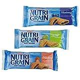 Kellogg's Nutri-Grain, Soft Baked Breakfast Bars, Assorted Pack, 1.3oz (48Count)