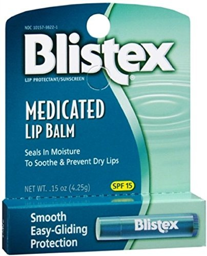 Blistex Medicated Lip Balm with SPF 15 for Dryness, Chapping and Soothes Irritated Lips, 0.15oz - Pack of 6