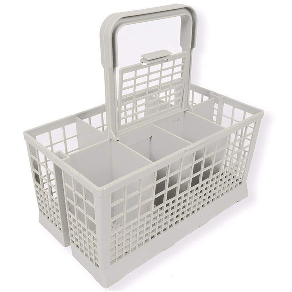 """Dishwasher Cutlery Caddy – Universal Cutlery Basket – Premium Quality Cutlery Bin for Any Dishwasher Type – Ideal 9.45"""" x 5.5""""x 4.7"""" – With Multiple Compartments"""