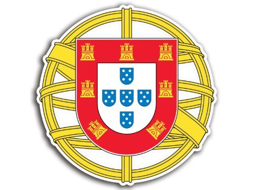 Portugal Coat Of Arms Sticker (portuguese crest) (Coat Portugal)