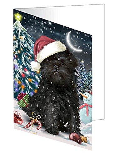 Have a Holly Jolly Christmas Happy Holidays Affenpinscher Dog Greeting Card GCD2320 (20)