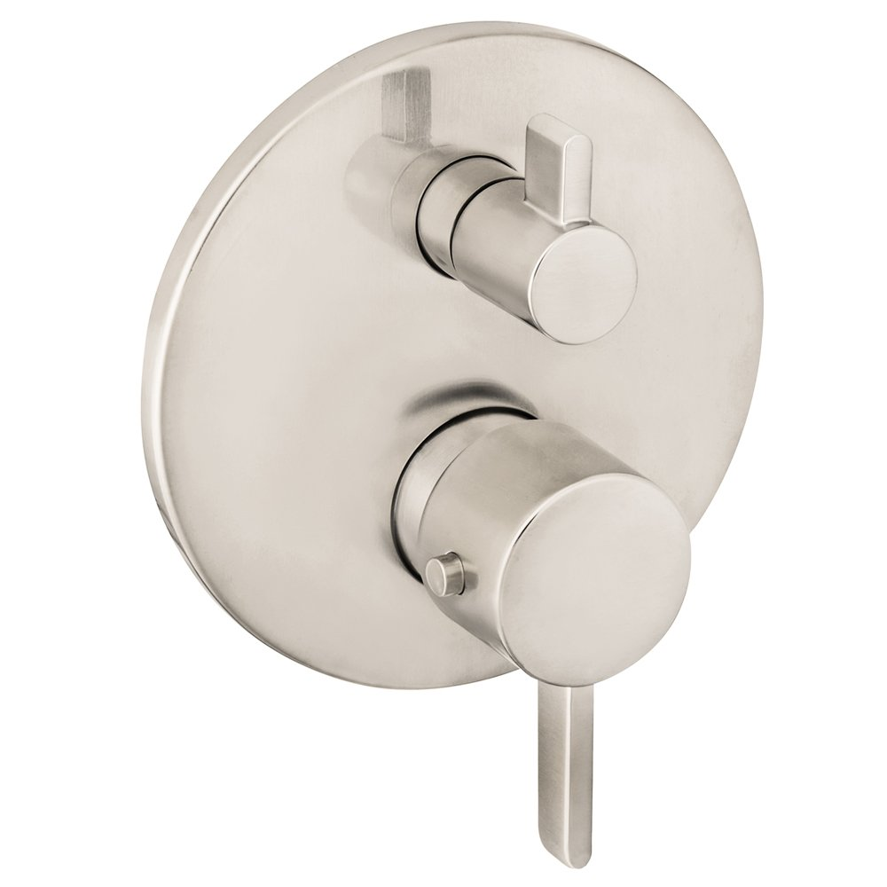 Hansgrohe 04231820 S Thermostatic Trim With Volume Control And Diverter, Brushed Nickel