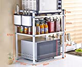 Multi-function kitchen rack / microwave oven shelves / bracket / shelves: 2-3 layers, space aluminum ( Size : 58CM , Style : C )