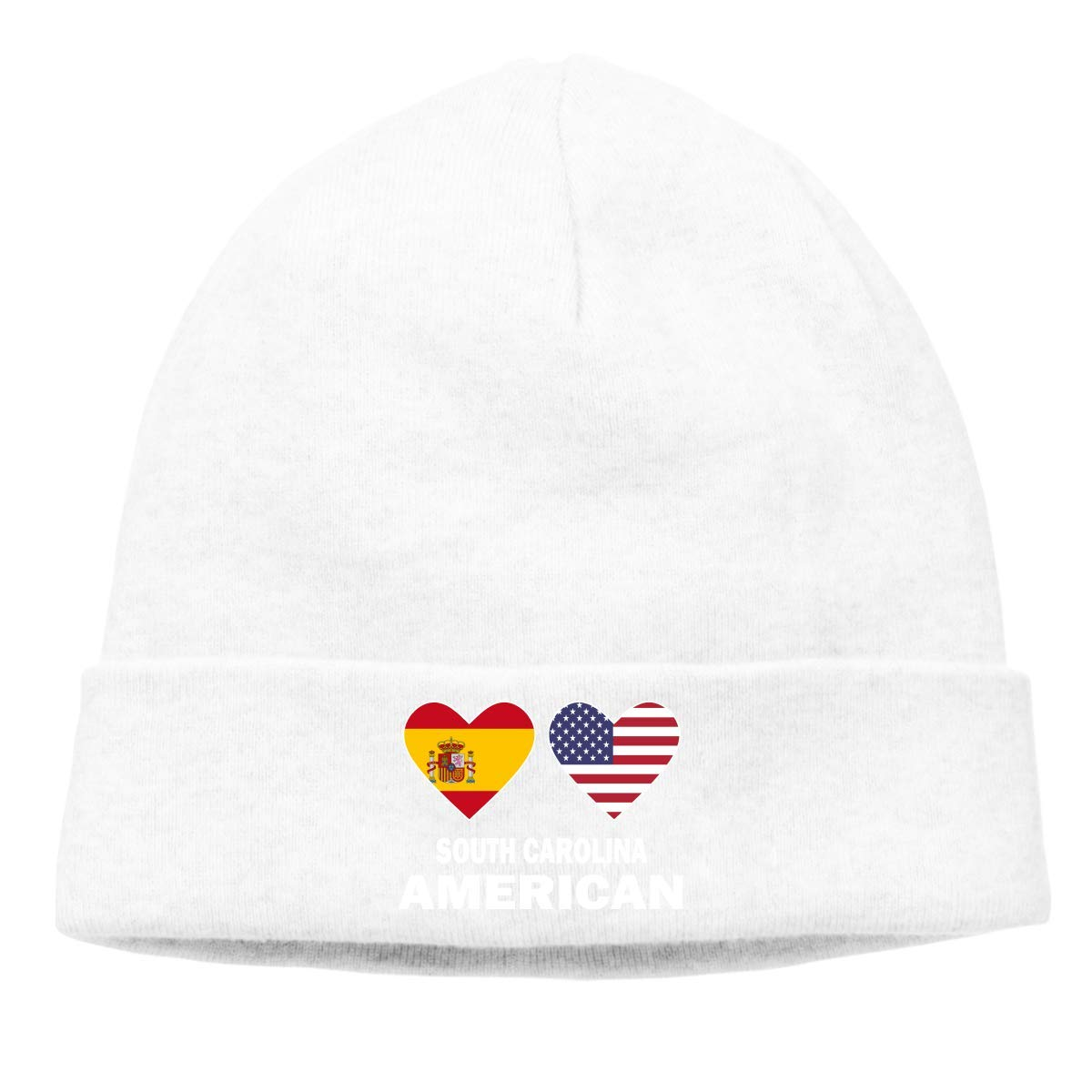 CHKWYN Unisex Spain American Hearts Soft Beanie Hat: Amazon.es ...
