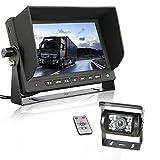 Backup camera truck GERI Waterproof rear view camera system 12V 24V HD CCD(WIRED) + 7'' TFT LCD Color HD Screen Display Monitor