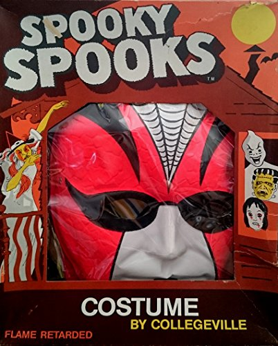 Spooky Spooks Spider Costume by Collegeville - Vintage 1960's
