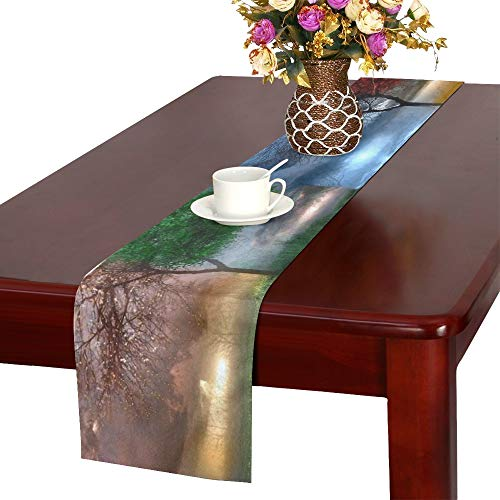 AIKENING Nature Hd Wallpapers for Desktop K D Nature Beau Table Runner, Kitchen Dining Table Runner 16 X 72 Inch for Dinner Parties, Events, -
