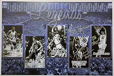 """""""BBN Legends"""" - Hand Signed 12x18 UK Kentucky Wildcats Mini Poster w/COA"""