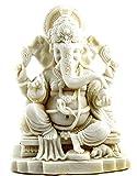 Bellaa 23613 White Ganesh Beautiful Statues Hindu