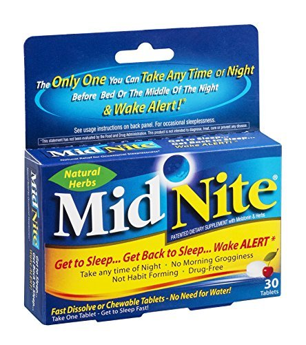 MidNite Sleep Aid Herbal Supplement Tablets, 30 count - Buy Packs and SAVE (Pack of 2) ()
