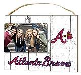 "KH Sports Fan 10""x8"" Atlanta Braves Clip It Weathered Logo Photo Frame"
