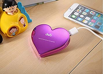 En forma de corazón creativo de 4000 mAh batería externa ...