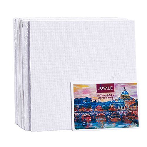 (Canvas Panels - 12-Pack Canvas Boards, Acid Free Blank Canvas for School Art Supplies, Paintings, Drawings, White, 6 x 6 Inches)