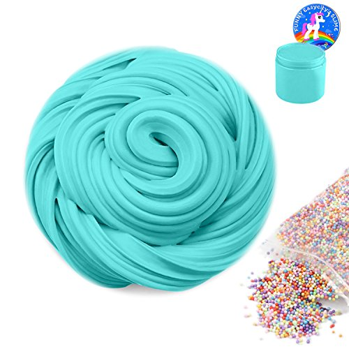 Fluffy Slime, 12 OZ Super Soft and Non-sticky Scented Slime Stress Relief Sludge Toy for Kids and Adults, Arts Crafts Party School Supplies, ASTM Certified(Ocean Blue)