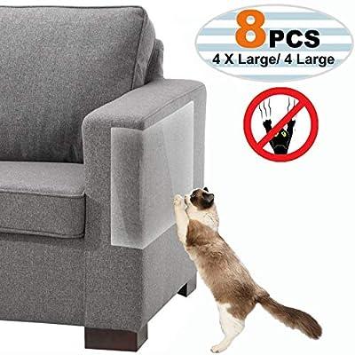 Lotyes Cat Scratch Deterrent, 8Pcs Self-Adhesive Pet Scratch Guard for Furniture