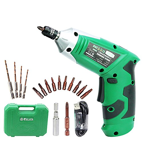 LAOA 3.6V Portable Electric Screwdriver, Electric Drill With Chargeable Battery, Cordless Drill, DIY Power tools with 11 bits