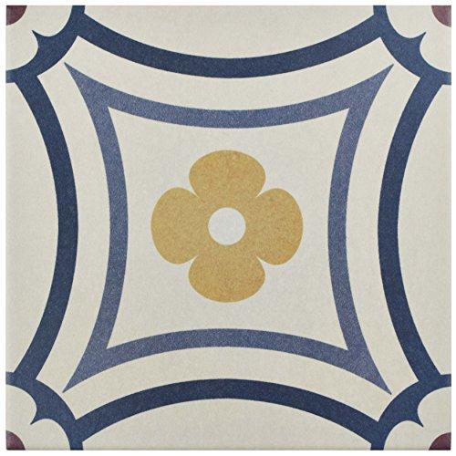 SomerTile FEQ8CAST Anacapri Porcelain Floor & Wall Tile, 7.875