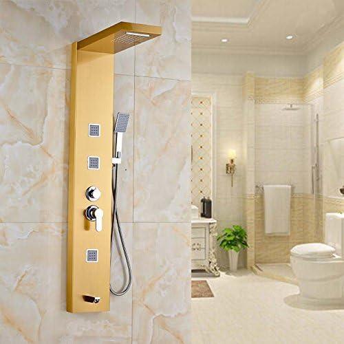 senlesen Acero Inoxidable Dorado Panel Columna de ducha panel de ...