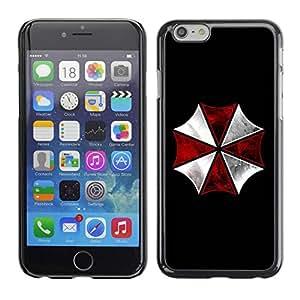 Paccase / SLIM PC / Aliminium Casa Carcasa Funda Case Cover para - Umbrella Corp Evil - Apple Iphone 6