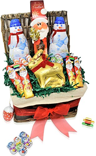 Christmas Lindt Chocolate Variety Gift Basket - Lindt, Santa, Reindeer, Snowmen, Christmas Specials and more - Christmas Gift Pack for Family, Friends, Her, Him and more
