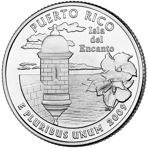 2009 S Silver Proof Puerto Rico Territory Quarter Choice Uncirculated US Mint ()