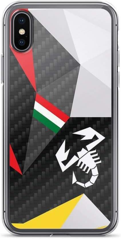 Abarth Carbon Competizione Coque transparente pour iPhone X/XS, XR ...