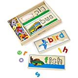 """Melissa & Doug See & Spell Learning Toy, Developmental Toys, Wooden Case, Develops Vocabulary and Spelling Skills, 50+ Wooden Pieces, 3"""" H x 6.5"""" W x 14"""" L"""
