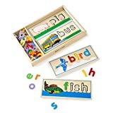 "Melissa & Doug See & Spell Learning Toy, Developmental Toys, Wooden Case, Develops Vocabulary and Spelling Skills, 50+ Wooden Pieces, 3"" H x 6.5"" W x 14"" L"