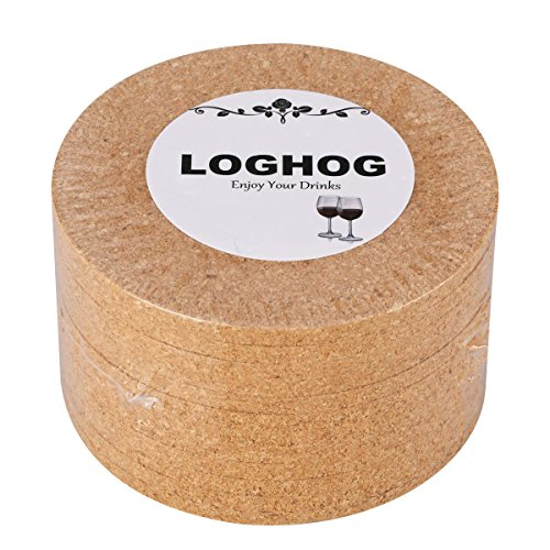 Round Cork Coaster - Cork Coaster Set of 12,Round Cork Coaster Set Cup Coaster for Home Bar Restaurant,4
