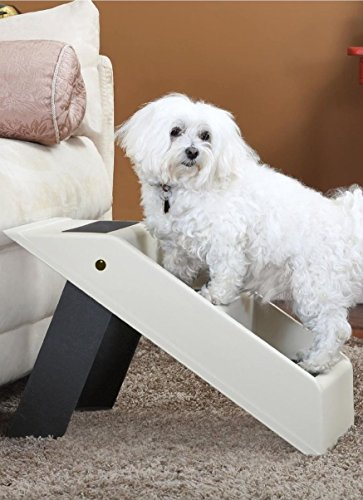 Folding Dog Stairs or Dog Steps – 3 Step Dog Ladder or Pet Stairs by Imperial Home