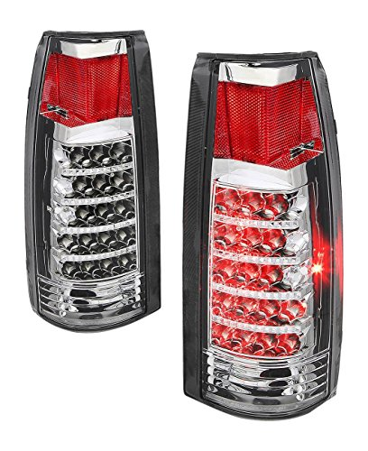 DNA TL-C10-LED-CH-CL Chevy C/K Series Chrome Clear Lens LED Tail Light ()