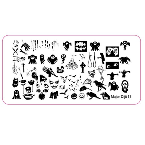 Temporary Tattoos Sticker, Oksale® Halloween DIY Nail Art Image Stamp Stamping Plates Manicure -