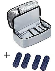 ALLCAMP Large Insulin Cool Bag Diabetic Organizer Portable Medical Travel Cooler Case