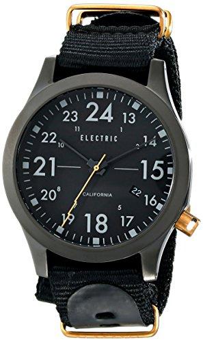 Electric Men's EW0010020006 FW01 Nato Band Analog Display Japanese Quartz Black Watch