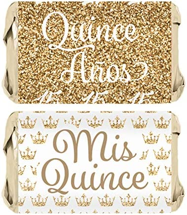 Quinceanera Party Candy Wrapper Stickers product image