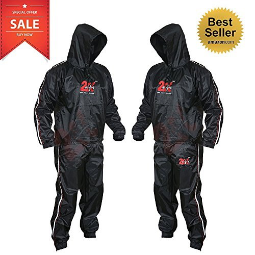 2Fit® Heavy Duty Sweat Suit Sauna Exercise Gym Suit Fitness, Weight Loss, AntiRip