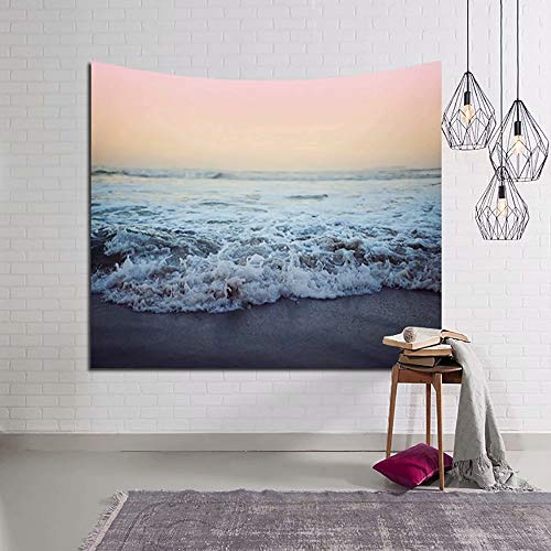 YOMIA Ocean Tapestry Wall Hanging Beach Wall Tapestry Nature Scene Sunset Sunrise Sea Waves Blanket Decor Bohemian Tapestries for Picnic Blanket or Beach Throw 90x60inch