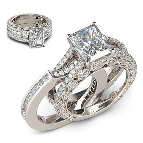 Ximandi Minimalist Diamond Two in One Geometric Side Square Ring Ladies Jewelry Gift Womens Luxury Rings
