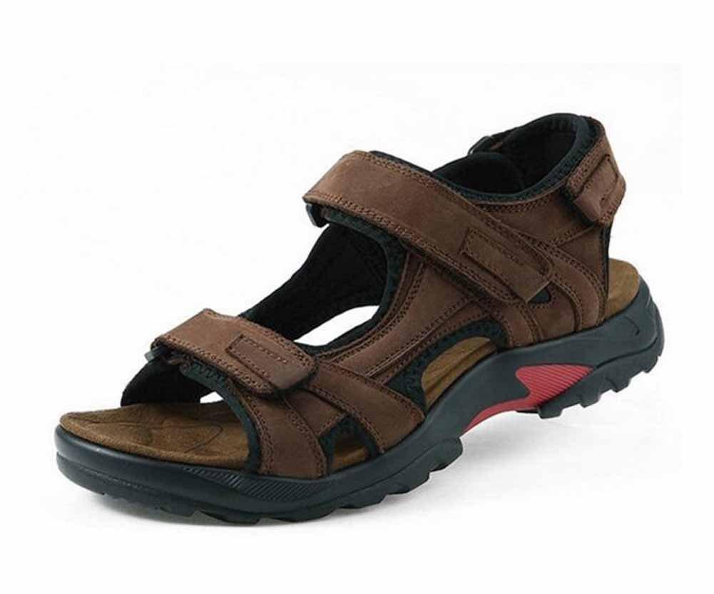 Männer Outdoor Open Toed Sandalen Männer Leder Strand Schuhe Sport Sandalen Große Größe