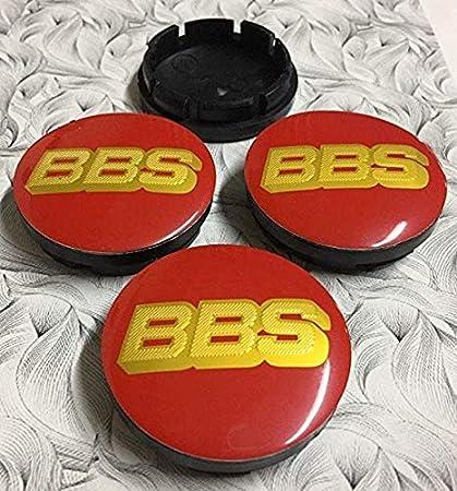 56mm, Black Gold 4X BBS Wheel Centre Cap Carbon 56mm Set of 4 Hub Caps 3D Logo
