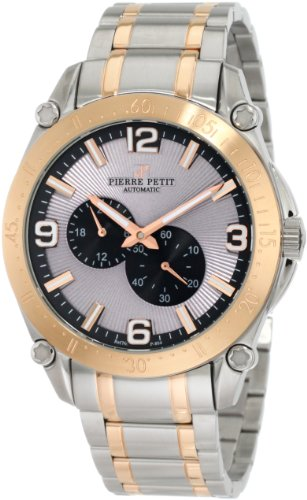 Pierre Petit Men's P-804D Serie Le Mans Automatic Two-Tone Stainless-Steel Sunray Dial Watch