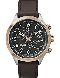 Timex Intelligent Quartz TW2P73400ZL Fly Back Chronograph Black Dial and Brown Leather Strap